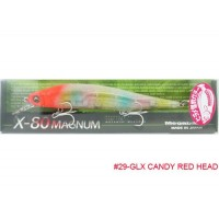 Megabass X-80 Magnum GLX Candy Red Head
